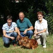 Familie Emrich mit Kamillo und Mozart