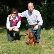 Martina und Peter Schneider mit Metaxa