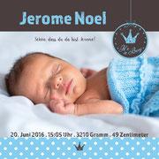 Jerome Noel 2in1 / Quadro . 148mmx148mm / 2-seitig (Geburts- und Dankeskarte vereint)