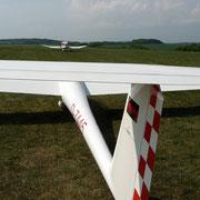 Das Schleppflugzeug zieht das Seil straff - auf geht's zu einem schönen Flug!