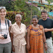 German visitors together with Mrs. Ngandu and Mrs. Lyimo (both members of the administrational team).