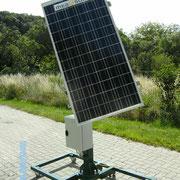 Windmesser mit Horizontalstellung des Solarpanels
