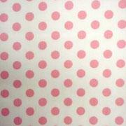 Roze stip op wit