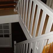 schilderen, muren, plafonds en houtwerk trap en deuren. woning Ommoord (rotterdam)