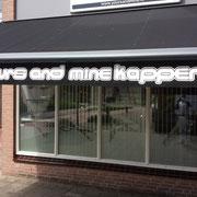 buitenschilderwerk, Kapsalon Yours and Mine Zoetermeer.