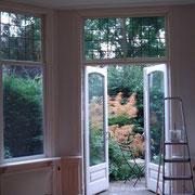 oud herenhuis, houtwerk, deuren en raamkozijnen geschilderd. Rijswijk.