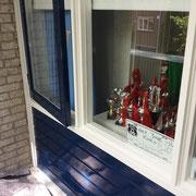 buitenschilderwerk, woning Zoetermeer.