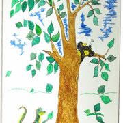 Der Buchstabenvogel und der kleine Drache Zahlix.