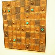 Matthias Mollner: Stahldraht, Schrauben, Nägel, Gummi, Acryl auf Holz, photo: Nicole Ponesch ©