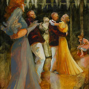 "Nickel Dance Sea Island Cloisters, 2004, oil on canvas, 60"" x 48"" Collection of SCAD"