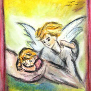 Pastellkreide auf Künstlerpapier