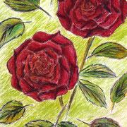Buntstift auf Künstlerpapier, ca. B 20cm x H 30 cm