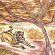 Pastellkreide auf Künstlerpapier, ca. B 42 cm x H 30 cm