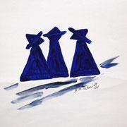Acryl auf Künstlerpapier, ca. B 21 cm x H 29 cm