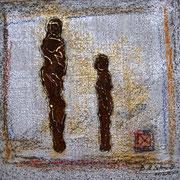 Mischtechnik auf Leinwand, ca. B 50cm x H 50 cm