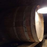 Ein Ex-Bourbonfass. Hier reift der Whisky in Ruhe.