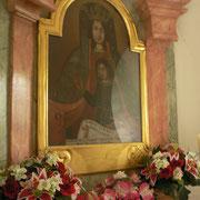 Das Marienbild (Kirche Wassersuppen) genießt noch heute Verehrung von Seiten der Gläubigen.