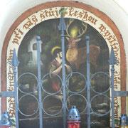 Ein neues Heiligenbild: Der Hl. Eustachius mit dem Hirsch als Schutzpatron der Jäger.