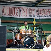 Auftritt mit seiner Band auf der Höfetour