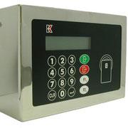 Контроллер с панелью управления,совмещенный со считывателем карты в стальном корпусе
