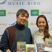 Midori at Tokyo FM, presenting her book 'Delius as I knew him' and CDs. With journalist Naoki Hayashida. Photo courtesy of Music Book Cafe