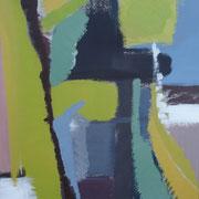 """""""Sichtfelder I""""    70cm x 50cm, Acryl auf Pappe, 2013"""