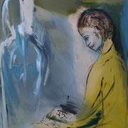 """Die Suchende""    100cm x 80cm, Acryl auf Leinwand, 2013"