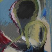 """Rückhalt""    70cm x 50cm, Acryl auf Pappe, 2013"