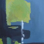 """""""Sichtfelder III""""    70cm x 50cm, Acryl auf Pappe, 2013"""