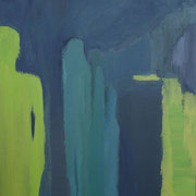 """""""Sichtfelder IV""""    70cm x 50cm, Acryl auf Pappe, 2013"""