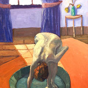 "Inspiration Edward Degas ""Le Tub - Der Badezuber"" - 30x60cm - Öl auf Keilrahmen/Baumwolle - €250,00"