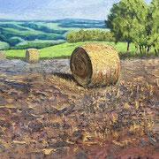 """The last Summer Bale"" - 50x40cm Öl auf MDF- €250,00"