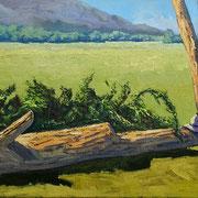Interpretation Foto Karen Ilari - Öl auf Keilrahmen/Baumwolle - 60x30cm - €250,00