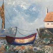 Low tide bath in colour - 50x40cm - Öl auf MDF -€230,00