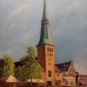 Marktkirche St. Nicolai, Hameln - 50x60cm - Öl auf Keilrahmen/Baumwolle  -  Verkauft/Sold