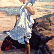 Summer Dreams -  Inspiration Sheree Valentine Daines - 30x60cm - Öl auf Keilrahmen/Baumwolle - €250,00