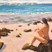 Sonnenanbeterin Inspiration Foto Jessica Görtsch 18072019 40x30cm - Öl auf MDF - €250,00