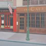 """WALNUT STREET"" Oil on canvas, 36"" X 60"", 2006."