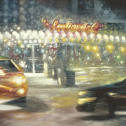 """CONTINENTAL OLD CITY"" Oil on canvas, 48"" X 60"", 2004."