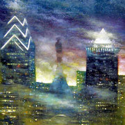 """PHILADELPHIA"" Oil on canvas, 60"" X 48"", 2004."
