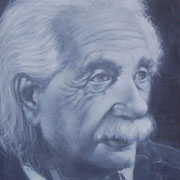 """Einstein"" Oil on canvas, 24"" X 18"""