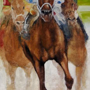 """Smarty Jones"", Oil on canvas, 48"" X 36"""