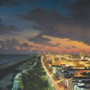 """OCEAN DRIVE"" Oil on canvas, 48"" X 36"", 2010."