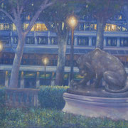"""RITTENHOUSE HOTEL"" Oil on canvas, 36"" X 48"", 2004."