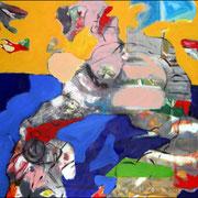 La sieste / 2004 / Acrylique / 50 x 65 cm