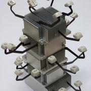 """""""Poème thermique""""  /  2012 / assemblage d'objets - métal et plastique / ~22 x 25 x 25 cm"""