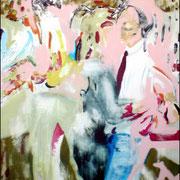Les danseurs  / 2005 / Acrylique / 100 x 81 cm