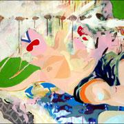 Personnage masqué (1) / 2005 / Acrylique / 60 x 73 cm