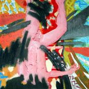 La chute  / 2005 / Acrylique / 76 x 60 cm