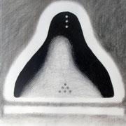 Morphose / 2008 / crayon et fusain / 65 x 50 cm